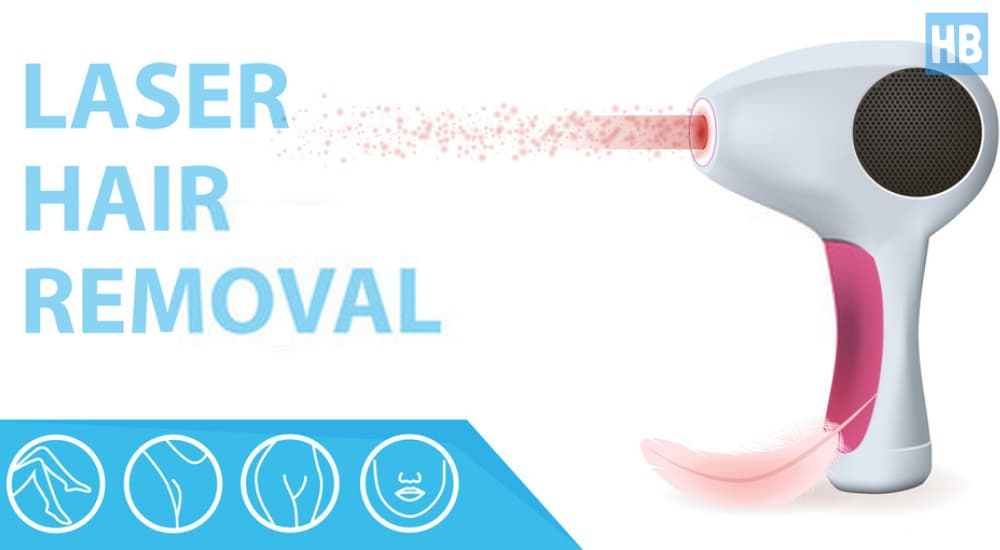 Laser hair removal device at home